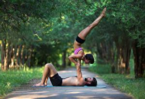 Fonds d'écran Gymnastique Homme 2 Activité physique Jambe Sport Filles