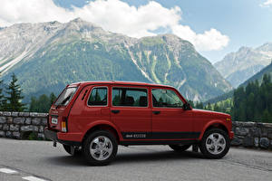 Pictures Lada Red  Cars