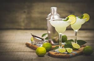 Bilder Limette Cocktail Weinglas