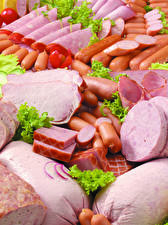 Images Meat products Ham Sausage Vienna sausage Sliced food