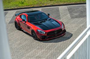 Fotos Mercedes-Benz Rot Metallisch 2018 Prior-Design AMG GT S PD700GTR Autos