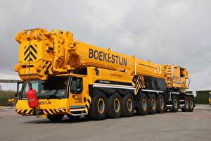 Hintergrundbilder Mobilkran Gelb 2012-17 Liebherr LTM 1750-9.1 Autos