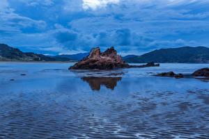 Pictures New Zealand Bay Rock Waikawau Bay Nature