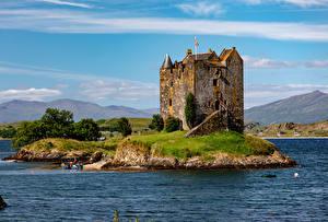 Tapety na pulpit Szkocja Zamek Rzeki Castle Stalker miasto