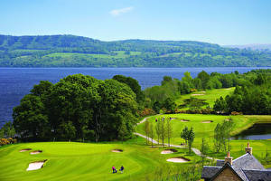 Fotos Schottland Parks Fluss Felder Loch Lomond Natur