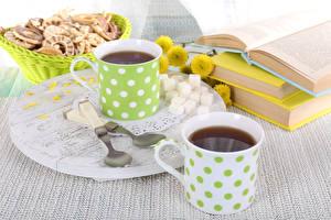 Hintergrundbilder Tee Backware Tasse 2 Löffel Zucker Buch Lebensmittel