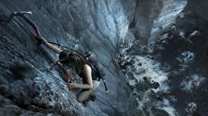 Hintergrundbilder Tomb Raider Bergsteigen Lara Croft Felsen Bergsteiger Shadow of the Tomb Raider 3D-Grafik
