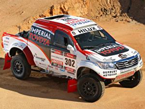 Hintergrundbilder Fahrzeugtuning Toyota Rallye Pick-up 2012 Hilux rally car