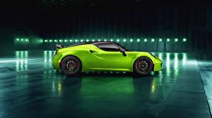 Fotos Alfa Romeo Seitlich Hellgrüne 2018 Green Arrow Centurion 4C Pogea Racing Autos
