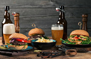 Wallpapers Beer Hamburger Walls Bottle Highball glass Chips Food