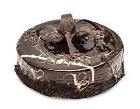 Fotos Torte Süßware Schokolade Weißer hintergrund Design