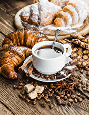 Hintergrundbilder Kaffee Backware Schokolade Croissant Tasse Getreide Zucker Lebensmittel