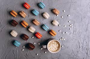 Bilder Kekse Macaron Tasse Marshmallow Lebensmittel