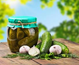 Hintergrundbilder Gurke Knoblauch Dill Einweckglas Lebensmittel