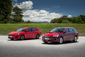 Pictures Ford Two Red Metallic 2018 Focus Cars