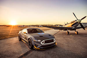 Fotos Ford Flugzeuge Grau 2018 Eagle Squadron Mustang GT automobil