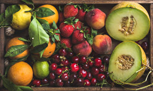 Picture Fruit Melons Cherry Peaches Strawberry Citrus Berry