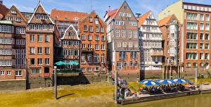 Images Germany Hamburg Houses Street Cafe