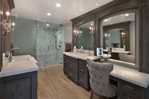 Image Interior Design Bathroom Lamp Wing chair Mirror