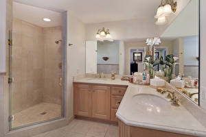 Image Interior Design Bathroom Lamp Mirror