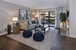 Wallpapers Interior Design Lounge sitting room Sofa Lamp Rug