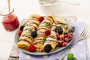 Photo Pancake Berry Blackberry