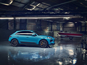 Wallpapers Porsche Light Blue Metallic 2018 Macan S Worldwide automobile