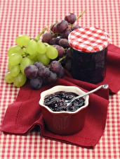 Bilder Konfitüre Weintraube Weckglas Lebensmittel