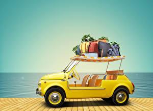 Bilder Resort Küste Handtasche Tourismus 3D-Grafik