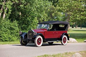 Hintergrundbilder Antik Bordeauxrot Metallisch 1924 Pierce-Arrow Model 33 7-passenger Touring Autos