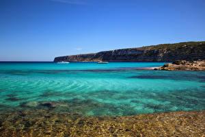 Hintergrundbilder Spanien Küste Meer Formentera Pityusic Islands Natur