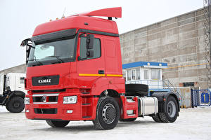 Wallpapers Lorry Red 2013-18 Kamaz-5490 auto