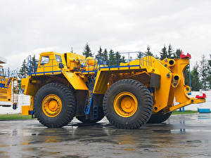 Fotos Lastkraftwagen Gelb BelAZ-74306 Autos