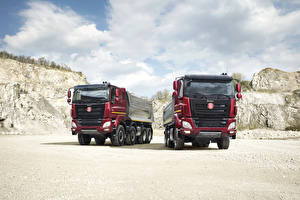 Pictures Trucks Two Front  automobile