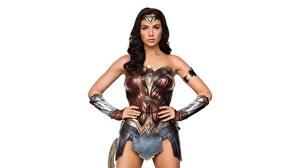 Photo Wonder Woman hero Wonder Woman (2017 film) Gal Gadot Warriors White background film Girls Celebrities