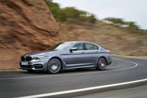 Images BMW Grey Side Motion Sedan 2017 5-series G30 540i automobile