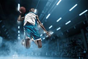 Hintergrundbilder Basketball Mann Ball Sprung Neger sportliches