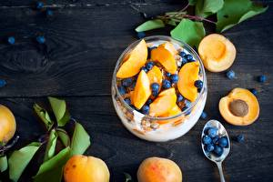 Wallpaper Blueberries Apricot Food