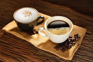 Hintergrundbilder Kaffee Cappuccino 2 Tasse Getreide Lebensmittel