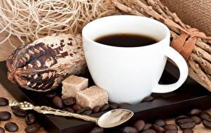 Picture Coffee Cup Grain Sugar Spoon Food