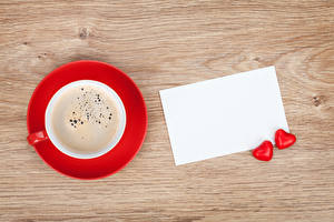 Picture Coffee Template greeting card Cup Heart Two Sheet of paper