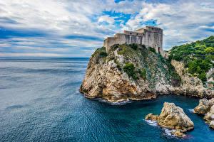 Images Croatia Castle Stones Dubrovnik Crag Bay