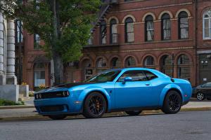 Wallpapers Dodge Light Blue Metallic 2019 Challenger SRT Hellcat Redeye Widebody automobile