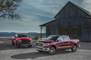 Hintergrundbilder Dodge Pick-up Zwei Metallisch 2019 Ram 1500 automobil