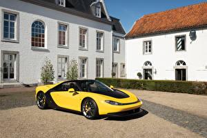 Fotos Ferrari Gelb Metallisch 2014 Sergio Pininfarina Autos