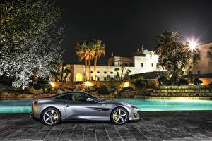 Fotos Ferrari Grau Seitlich 2018 Portofino Autos