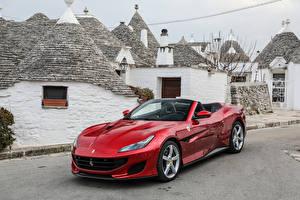 Bilder Ferrari Rot Metallisch Cabriolet 2018 Portofino Autos