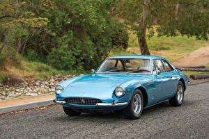 Bilder Ferrari Retro Hellblau Metallisch 1966 500 Superfast Pininfarina Autos