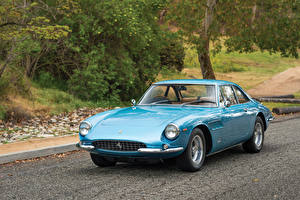 Wallpapers Ferrari Retro Pininfarina Light Blue Metallic 1966 500 Superfast