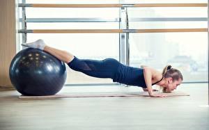 Fonds d'écran Fitness Yoga Ballon Pompe musculation Jambe Sport Filles
